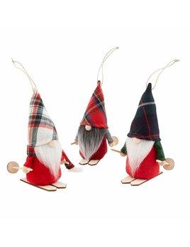 Mudpie Skiing Gnome Ornament
