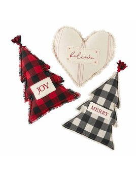 Mudpie Christmas Figural Pillows