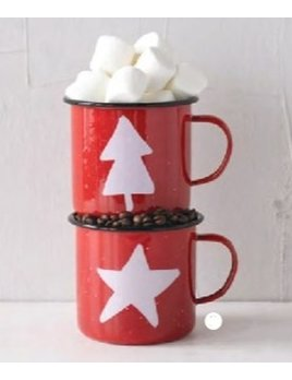 Creative Co-op Red Campfire Mug