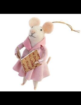 Indaba Tessa Teacher Mouse Ornament
