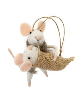 Indaba Mommy & Me Mouse Ornament