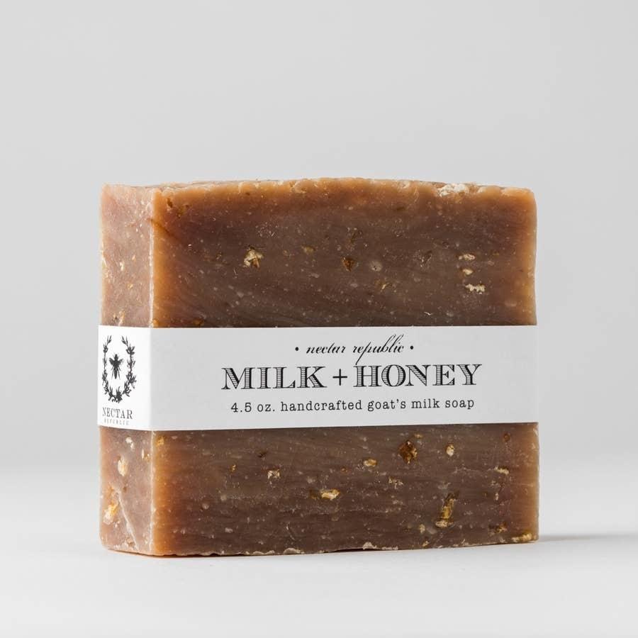 Nectar Republic Milk + Honey : Bath Soap