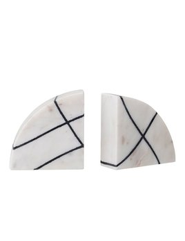 Bloomingville Marble Bookends - White Black - Set of 2