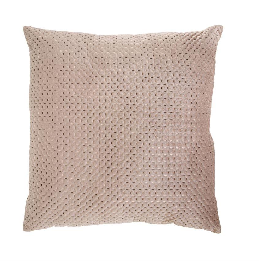 """Bloomingville 24"""" Square Velvet Pillow - Sand"""