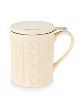 True Annette Knit Ceramic Tea Mug & Infuser