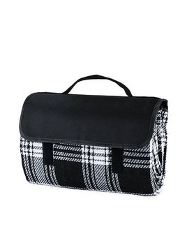 True Dine Picnic Blanket - Black Plaid