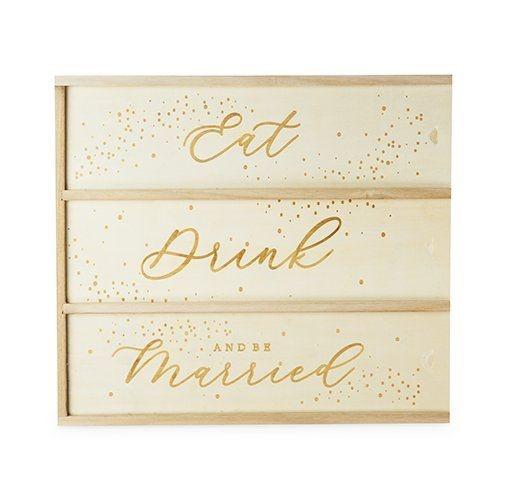True Eat Drink Be Married 3 Bottle Wine Box