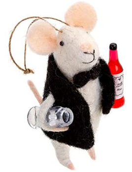 Indaba Sommelier Mouse Ornament