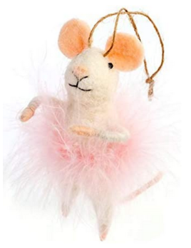 Indaba Cotton Candy Mouse Ornament