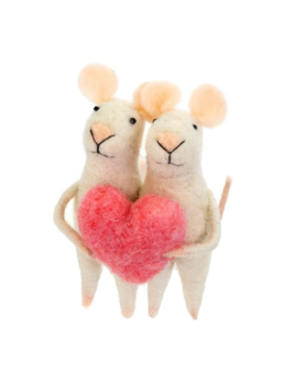 Indaba Love You Mice Ornament