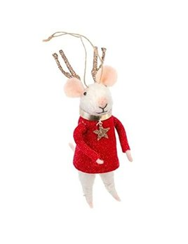 Indaba Reindeer Mouse Ornament