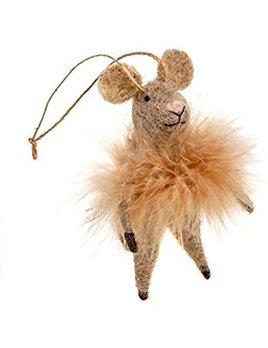 Indaba Fluffy Farah Mouse Ornament