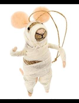 Indaba Mummy Mouse Ornament