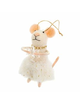 Indaba Miss Clara Mouse Ornament