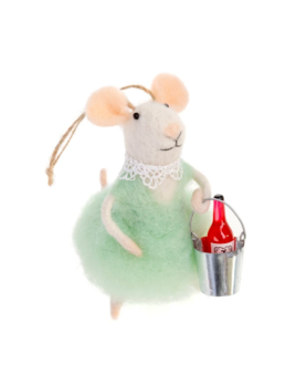 Indaba Wino Wendy Mouse Ornament