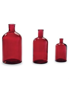 Mudpie Red Bottleneck Vases