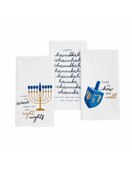 Mudpie Hanukkah Watercolor Towel