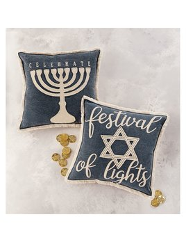 Mudpie Hannukah Canvas Pillow