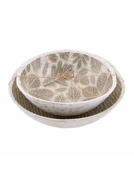 Mudpie Leaf Enamel Bowl Set