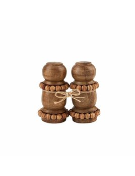 Mudpie Beaded Salt & Pepper Shaker Set