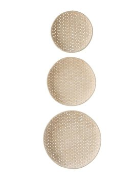 Bloomingville Round Woven Wood Baskets - Set of 3