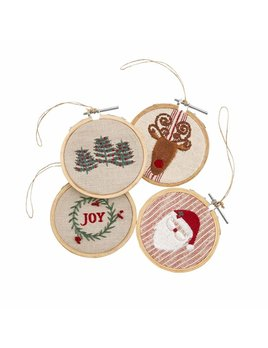 Mudpie Embroidery Hoop Ornaments
