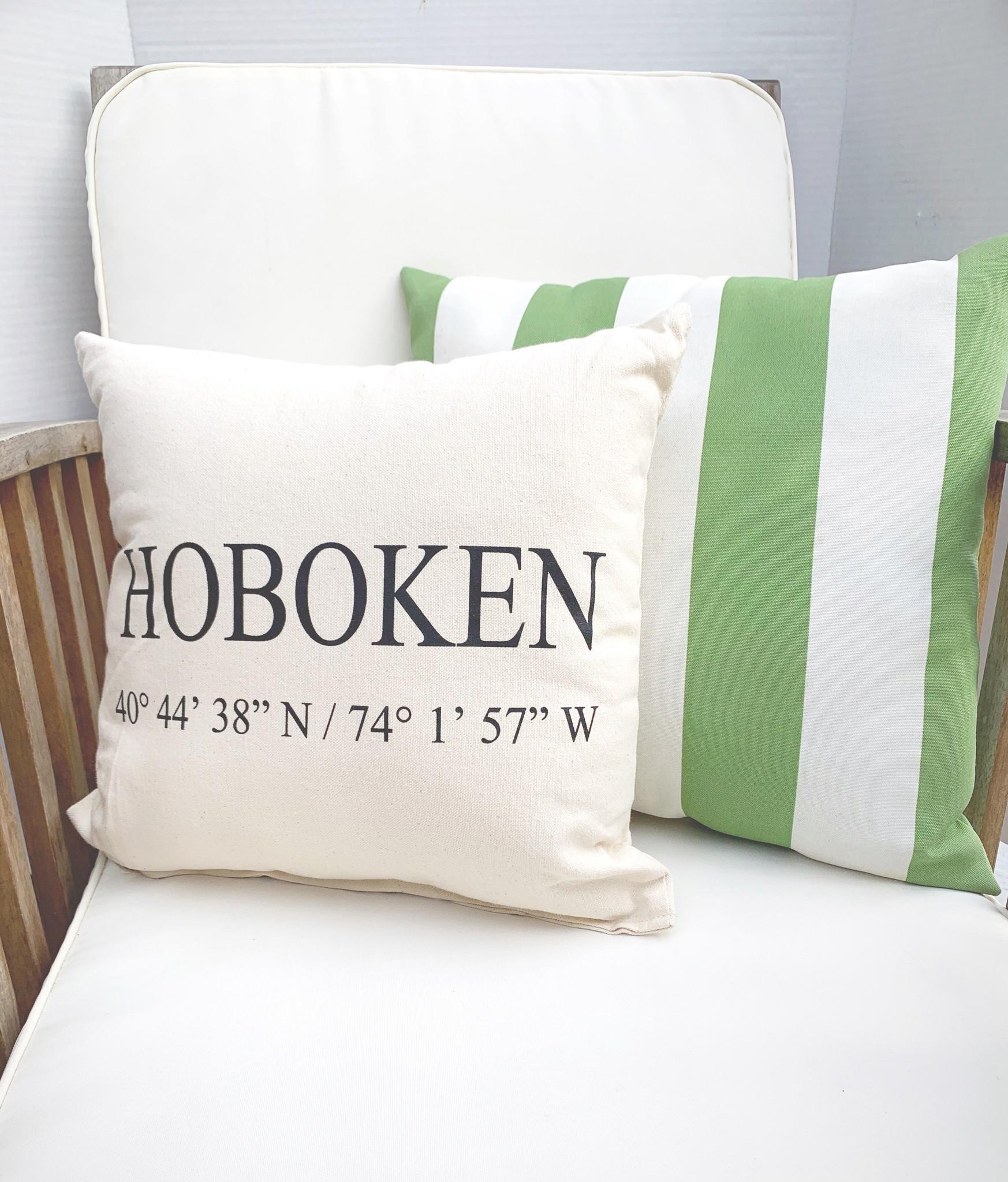 Eric & Christopher Hoboken Pillow