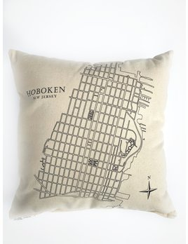 Eric & Christopher Hoboken Map Pillow
