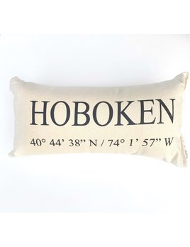 Eric & Christopher Hoboken Pillow - Small
