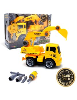 MukikiM Excavator: Take-Apart-Put-Together Truck Toy