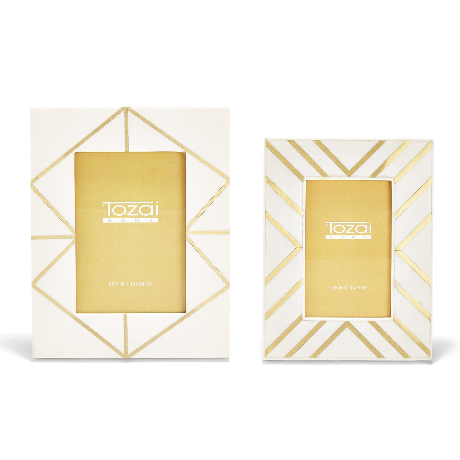 Two's Company Brass Angles Inlay Frame