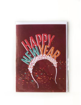 Hudson Paperie Happy New Year Headband Card
