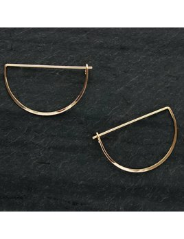 L. Greenwait Jewelry Crescent Earring