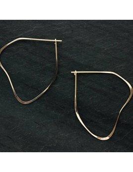 L. Greenwait Jewelry Organic Hoop Earring
