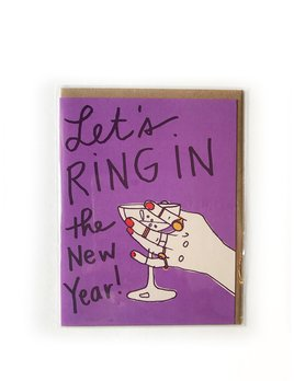 Hudson Paperie Ring In the New Year New Year Card