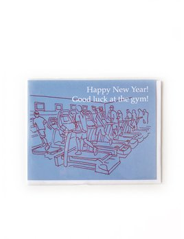 Hudson Paperie Good Luck At the Gym Card
