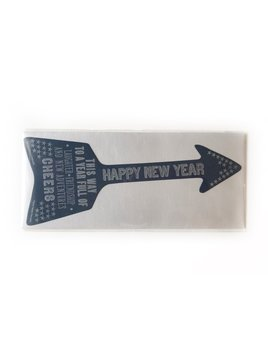 Hudson Paperie New Year Arrow Diecut Card