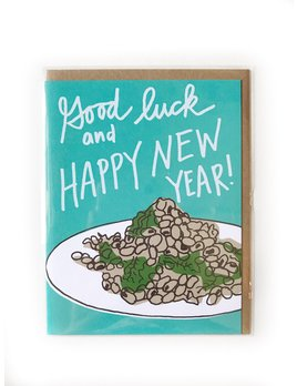 Hudson Paperie Black Eyed Peas New Year Card