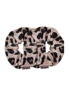 Kitsch Microfiber Scrunchies - Leopard