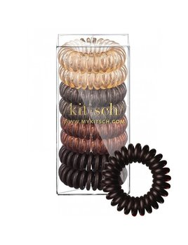 Kitsch Brunette Hair Coil - Pack of 8