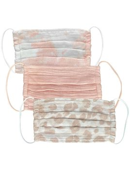 Kitsch Cotton Mask 3 Set - Blush
