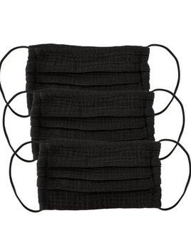 Kitsch Cotton Mask 3 Set - All Black Mask