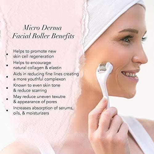 Kitsch Micro Derma Facial Roller - White