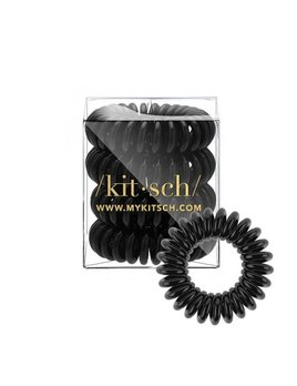 Kitsch Black Hair Coil - Pack of 4