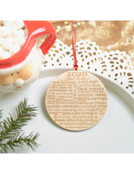 Sugar Crush Co. 2020 Pandemic Christmas Ornament