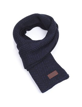 Mio Marino Soft Knit Winter Scarf - Navy/Black