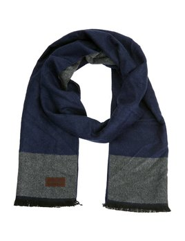 Mio Marino Wintertime Class Cotton Scarf - Blue/Gray