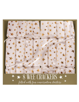The Gift Wrap Company Golden Stars Wee Crackers