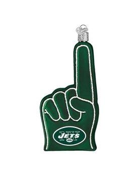 Old World Christmas New York Jets Foam Finger Ornament