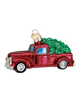 Old World Christmas Old Truck w/ Tree Ornament